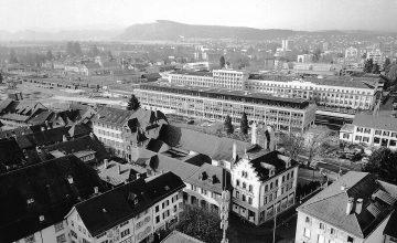 37 Dienstleistungszentrum Am Bahnhof Zofingen Foto Vogelperspektive